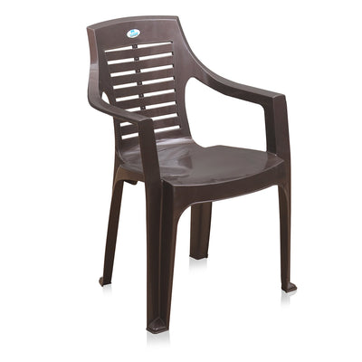 Nilkamal CHR 6020 Mid Back Chair With Arm (Weather Brown)