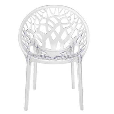 Nilkamal Crystal PC(Polycarbonate) Chair (CLEAR)