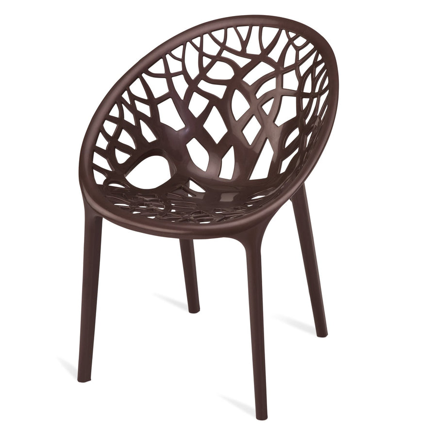 Nilkamal Crystal PP (Polypropylene) Chair (Weather Brown)