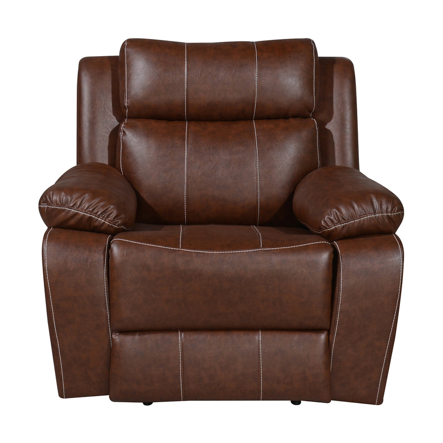 Nilkamal Commander 1 Seater PVC Recliner (Light Brown)