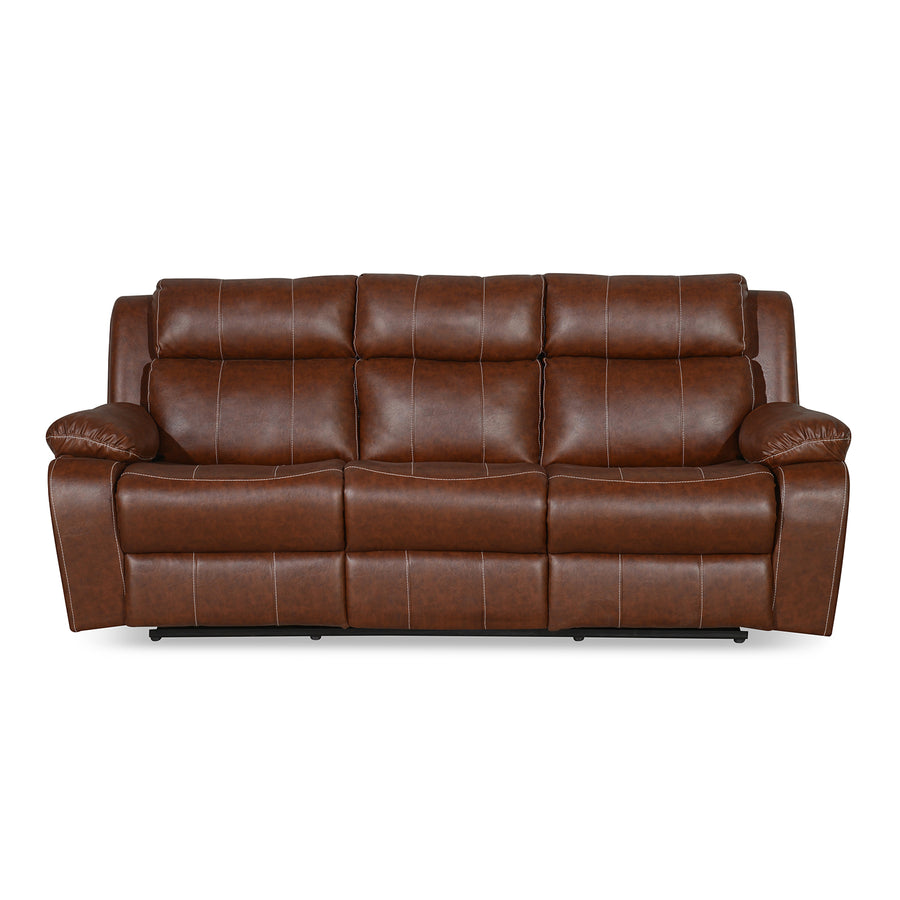 Nilkamal Commander 3 Seater PVC Recliner (Light Brown)