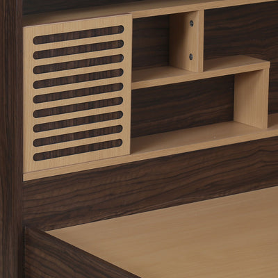 Nilkamal Czar 2 King Bed Box Storage (Beech/Walnut)
