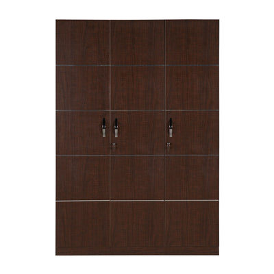 Nilkamal Delhi 3 Door Wardrobe (Brown Maple)