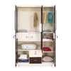 Nilkamal Deux 3 Door Mirror Wardrobe (Beige/Brown)