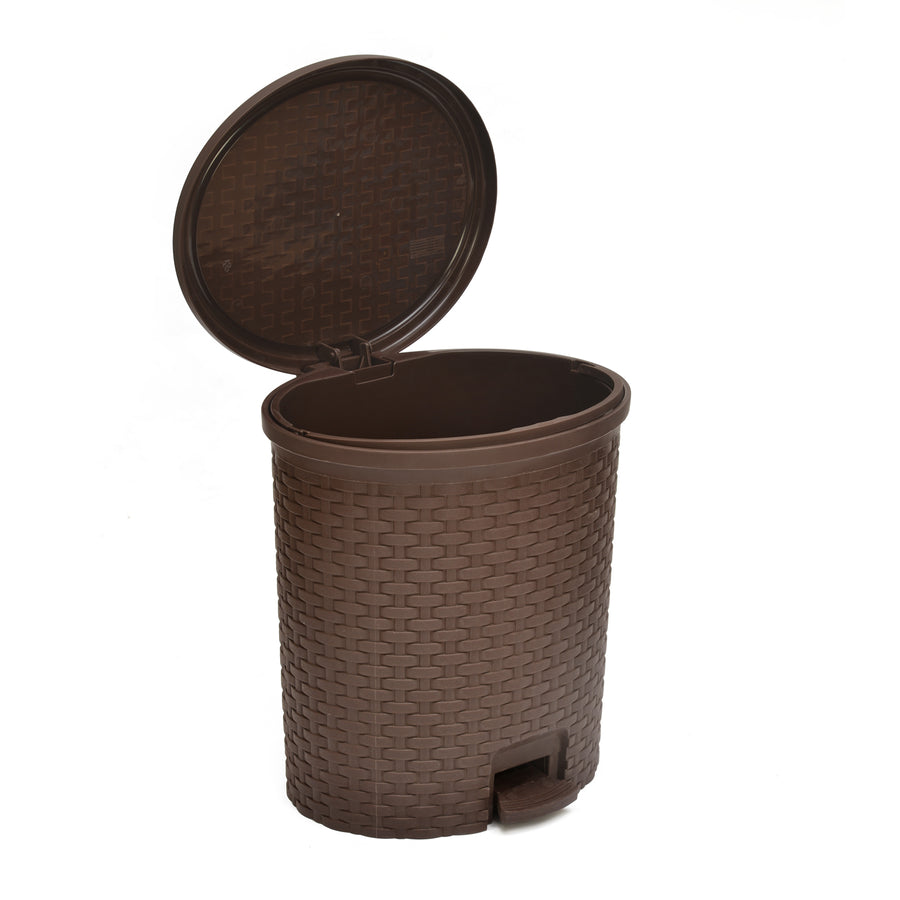 Nilkamal 12Liter Home Paddle Dustbin (Season Rust Brown)