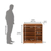 Nilkamal Easton Shoe Cabinet Rosewood