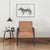 Nilkamal Eldora 1 Seater Metal Sofa Black/Brown