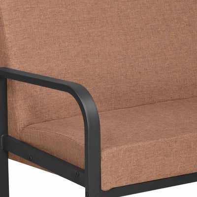 Nilkamal Eldora 3 Seater Metal Sofa Black/Brown