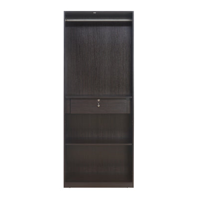 Nilkamal Empire 2 Door Wardrobe (Dark Brown/Cream)