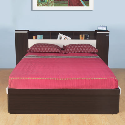 Nilkamal Empire Queen Bed (Dark Brown/Cream)