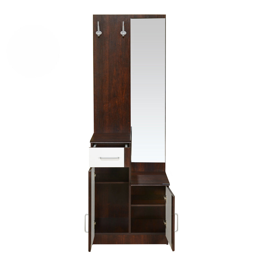 Nilkamal Erwin Dressing Table (Walnut/White)