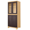 Nilkamal Freedom Big 2 (FB 2) Plastic Storage Cabinet (Weather Brown & Biscuit)