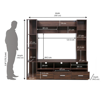 Nilkamal Florito Wall Unit (Walnut)