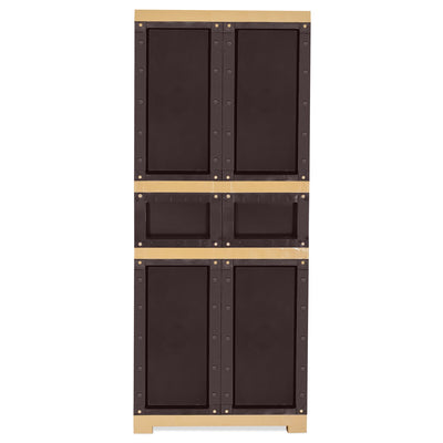 Nilkamal Freedom FMDR 1C Plastic Storage Cabinet with 1 Drawer - Weathered Brown & Biscuit