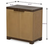 Nilkamal Freedom Mini 09 (FMSC09) Plastic Shoe Cabinet (Sandy Brown/Dark Brown)