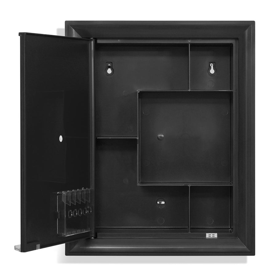 Nilkamal Gem Plastic Cabinet With Mirror (Black)