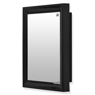 Nilkamal Gem Plastic Cabinet With Mirror ( Black)