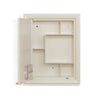 Nilkamal Gem Plastic Cabinet With Mirror - Ivory