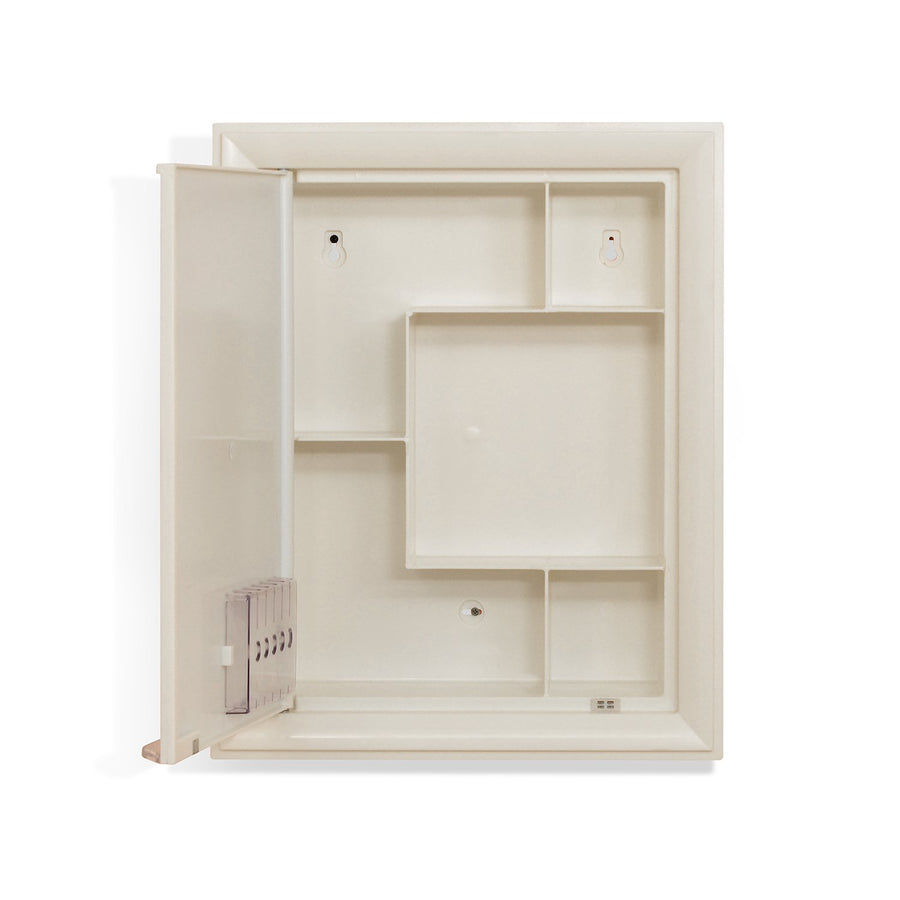 Nilkamal Gem Plastic Cabinet With Mirror (Ivory)