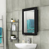 Nilkamal Gem Plastic Cabinet With Mirror - Black