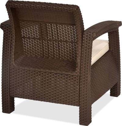 Nilkamal Goa Sofa 1 Seater - Brown