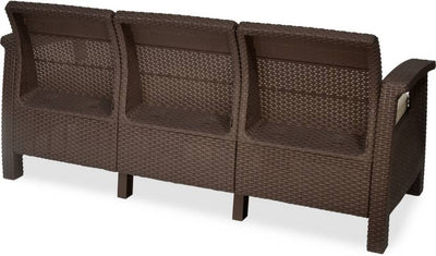 Nilkamal Goa Sofa 3 Seater, Brown