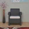 Nilkamal Goa Sofa 1 Seater, Grey