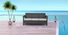 Nilkamal Goa Sofa 3 Seater, Grey