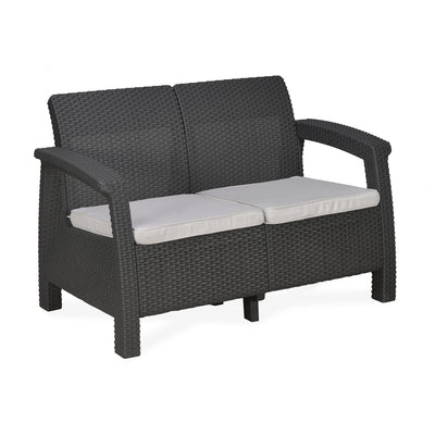 Nilkamal Goa Sofa 2 Seater - Grey