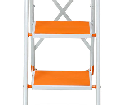 Nilkamal Delta 4step Ladder (White & Orange)
