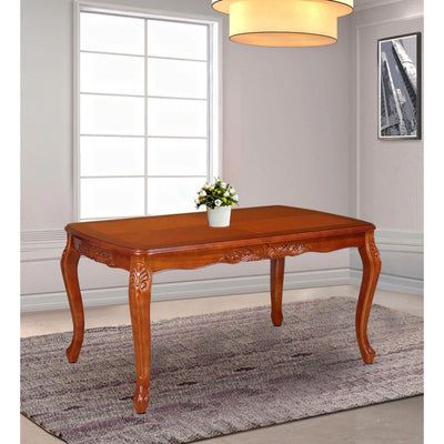 Nilkamal Garrick 6 Seater Dining Table (Chestnut)