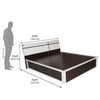 Nilkamal Ignis New Queen Bed (Dark Brown)