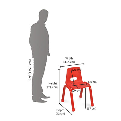 Nilkamal Grape Study Chair (Red)