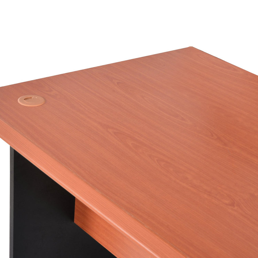 Nilkamal Illinios Office Table (Cherry/Black)