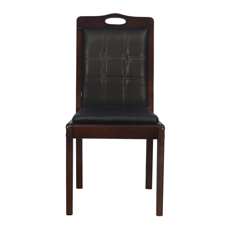 Nilkamal Jaxon Solid Wood Dining Chair - Walnut
