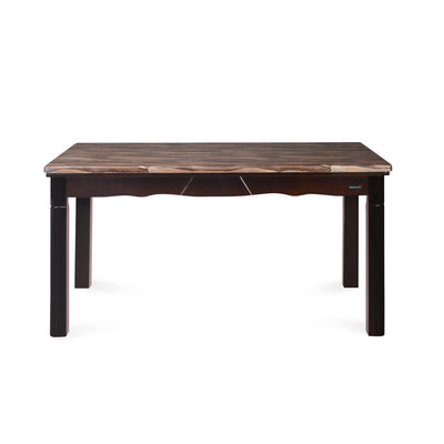 Nilkamal Jeffrey Solid Wood 6 Seater Dining Table, Walnut
