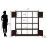 Nilkamal Lauren Book Case (Walnut)
