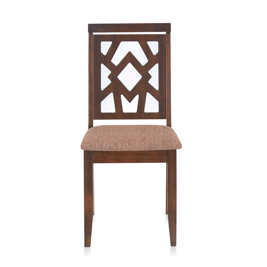 Nilkamal Lopez Dining Chair (Walnut)