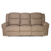Nilkamal Lorenzo 3 Seater Recliner Sofa, Light Brown