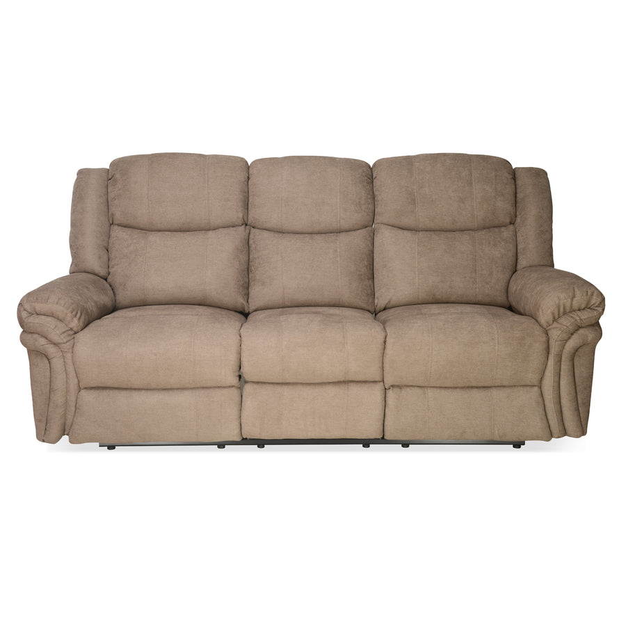 Nilkamal Lorenzo 3 Seater Recliner Sofa - Light Brown
