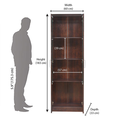 Nilkamal Minerva Book Case (Walnut)