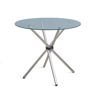 Nilkamal Indiana Round Dining Table (Clear)