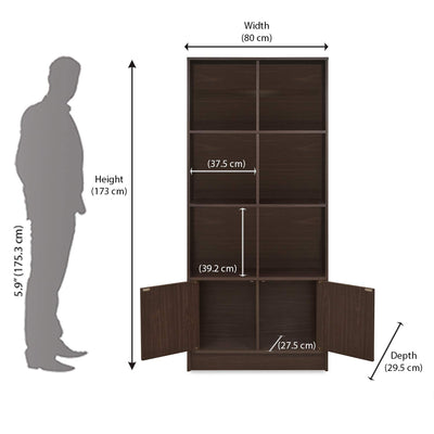 Nilkamal Siro Book Case (Walnut)