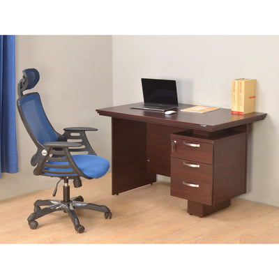 Nilkamal Vento Office Table (Mahogany)