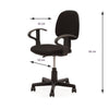 Nilkamal Venus Mid Back Chair (Black)