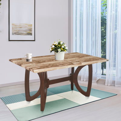 Nilkamal Veri 6 Seater Dining Table (Walnut)