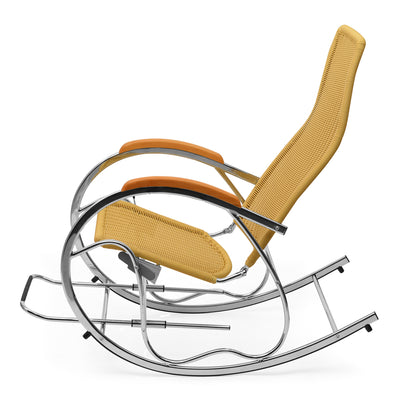 Nilkamal Wegner Metal 1 Seater Rocking Chair, Beige
