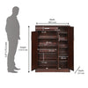 Nilkamal Kingsley Shoe Cabinet (Walnut)