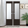 Nilkamal Krisa 2 Door Mirror Wardrobe (Beige/Brown)