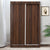 Nilkamal Lattice Sliding Wardrobe (Walnut)